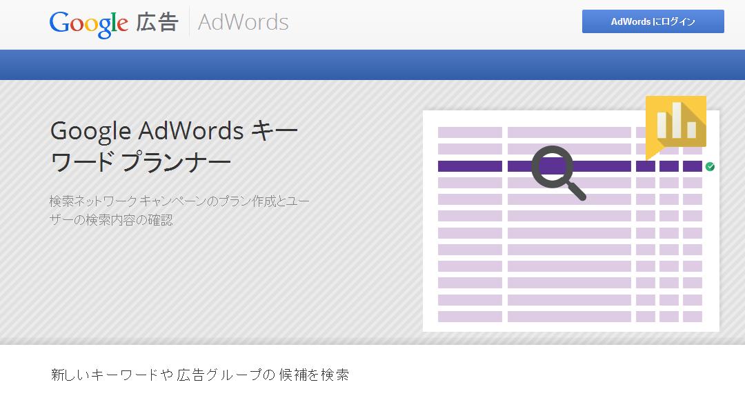 Googleキーワードプランナー