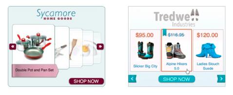 動的リマーケティング広告 ディスプレイ広告 例