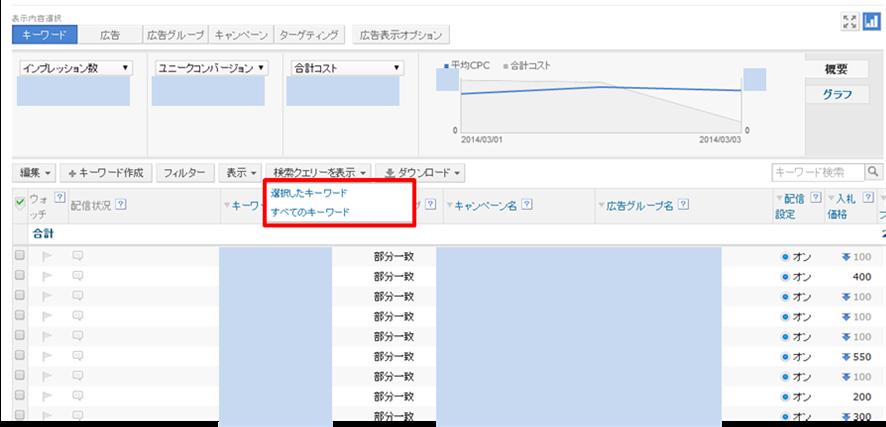 検索クエリの見方Yahoo!