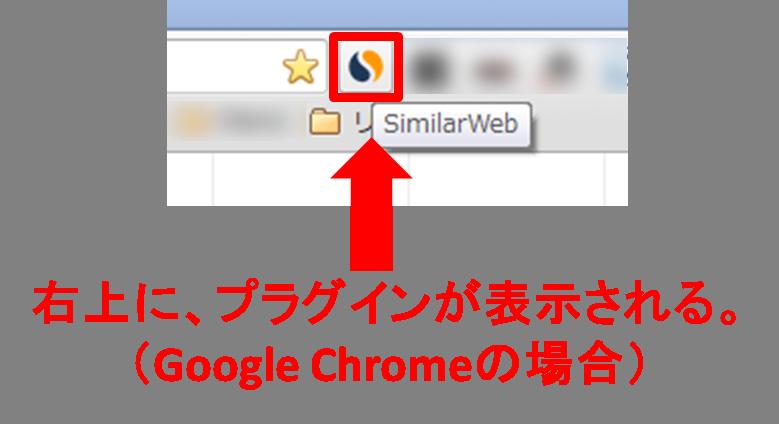 SimilarWebのプラグインの様子