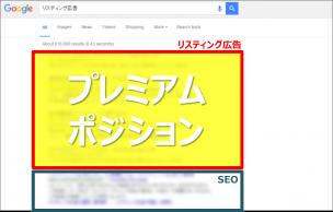 2.プレミアムポジション(Google)