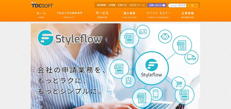 組織変更や人事異動に影響されずスムーズに使える Styleflow