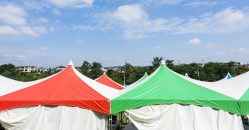テント、イベント